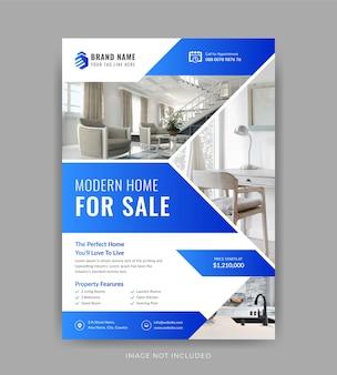 Design criativo de folheto de agente imobiliário