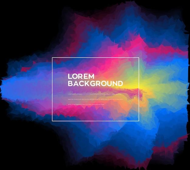 Design criativo de fundo de onda colorida