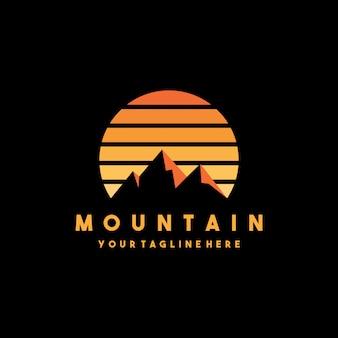 Design criativo de logotipo de montanha moderna