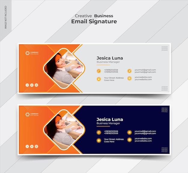 Design criativo de modelos de assinatura de e-mail