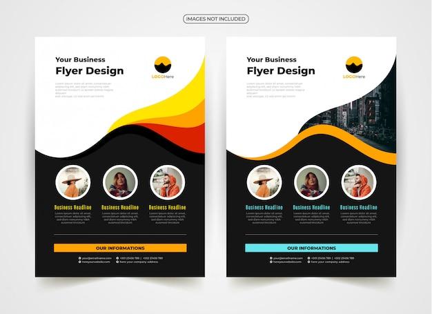 Design criativo de panfleto