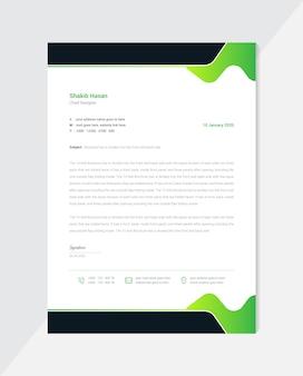 Design criativo de papel timbrado mínimo