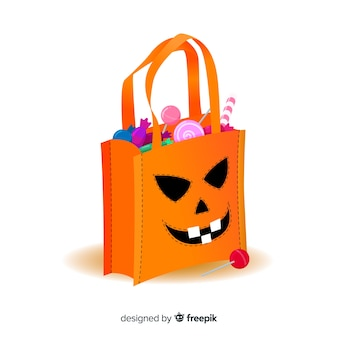 Design criativo de saco de halloween