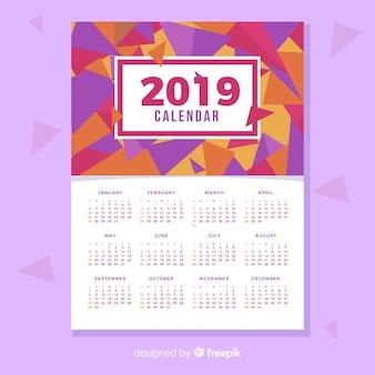 Design criativo do calendário 2019
