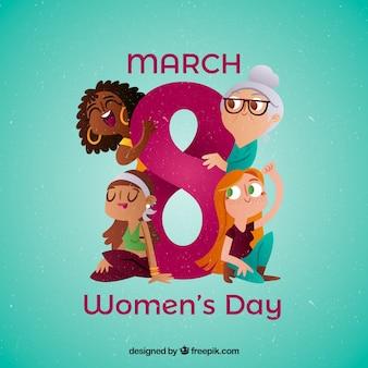 Design criativo do dia da mulher