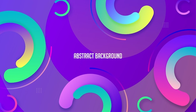 Design criativo do fundo dos círculos gradientes