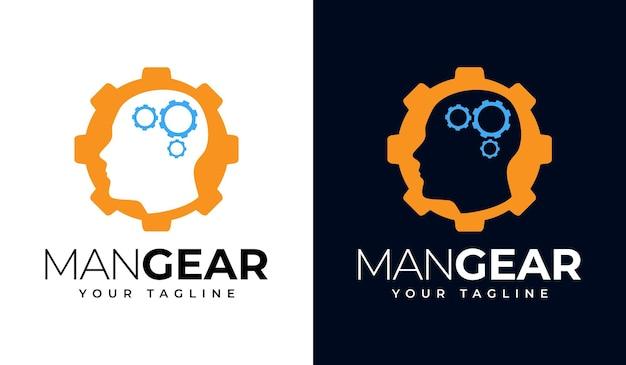 Design criativo do logotipo man gear