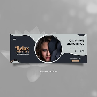 Design criativo e moderno de promoção de cuidados de beleza para banners de mídia social e anúncios de internet na web