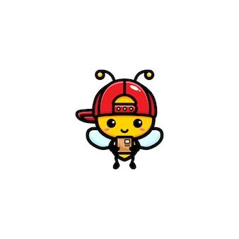 Design da abelha sendo um mensageiro