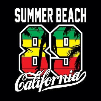 Design da camisa da califórnia