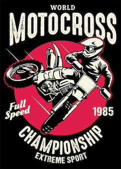 Design da camisa do campeonato de motocross