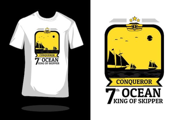 Design da camiseta da silhueta do conquistador