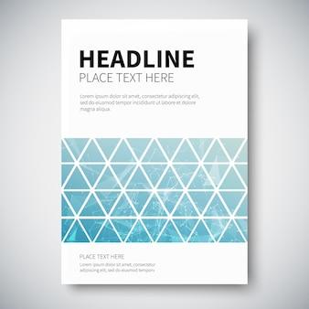 Design da capa com geometria abstrata de linhas trianguladas coloridas