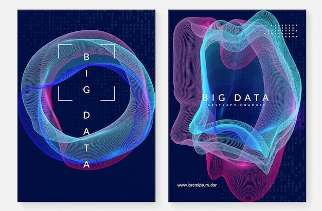 Design da capa da computação quântica. tecnologia para big data