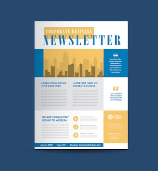 Design da capa do boletim informativo de negócios | journal design | projeto de relatório mensal ou anual