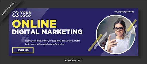 Design da capa do facebook de marketing digital