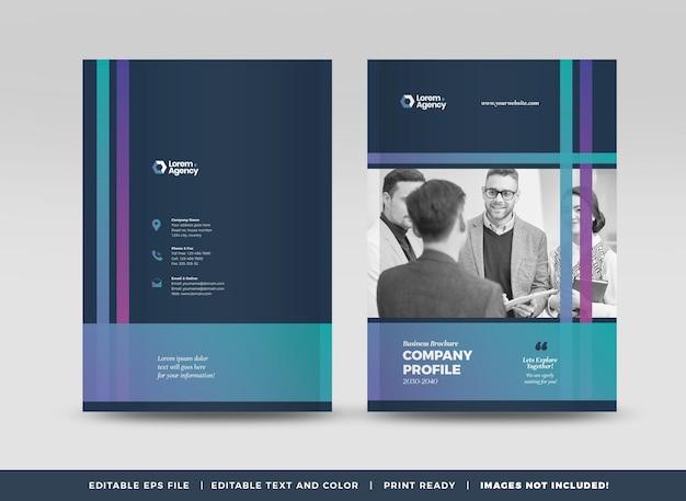 Design da capa do folheto comercial ou do relatório anual e capa do perfil da empresa ou capa do livreto