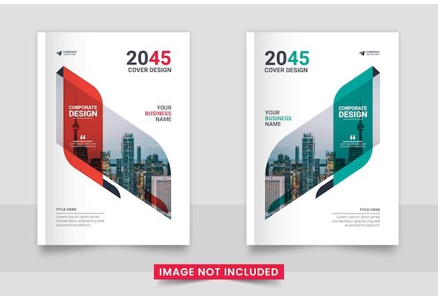 Design da capa do folheto comercial ou relatório anual e capa do perfil da empresa e capa do livreto