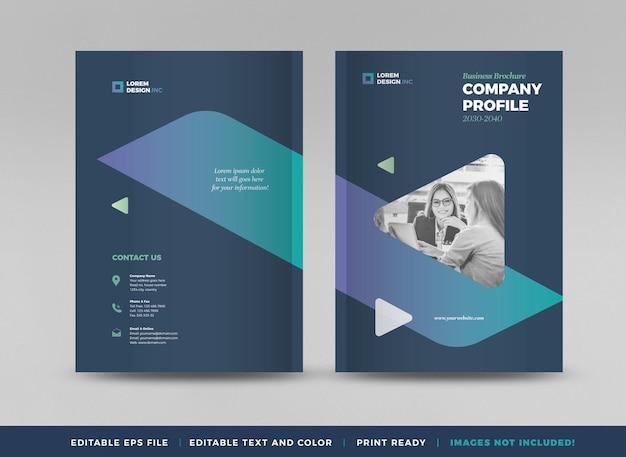 Design da capa do folheto comercial ou relatório anual e capa do perfil da empresa ou folheto e catálogo cov