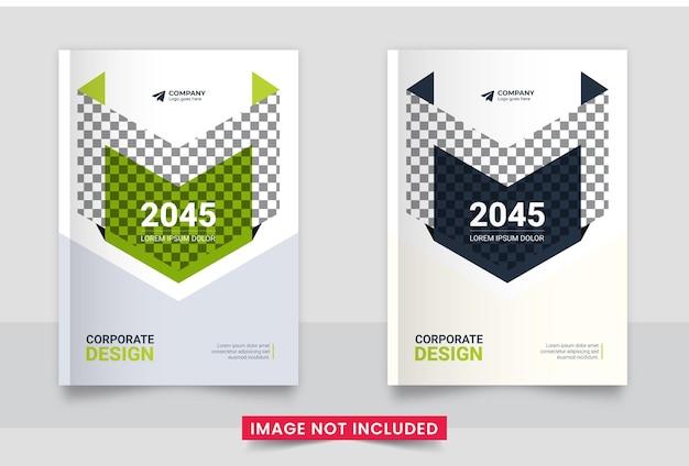 Design da capa do folheto comercial ou relatório anual e perfil da empresa ou conjunto de capa do livreto