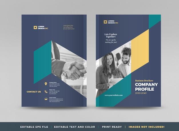 Design da capa do folheto comercial ou relatório anual e perfil da empresa ou livreto e capa do catálogo