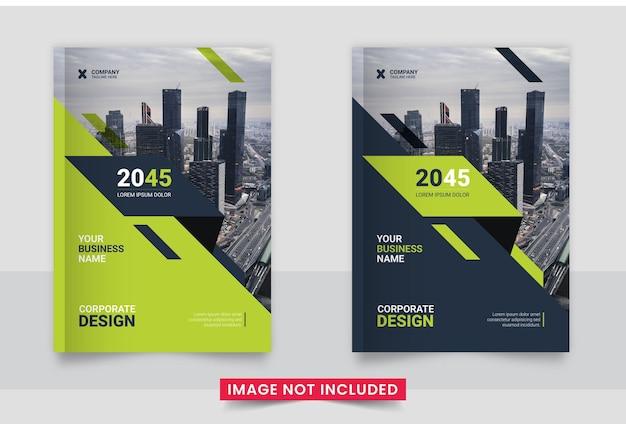 Design da capa do folheto comercial ou relatório anual e perfil da empresa ou modelo de design da capa do livreto
