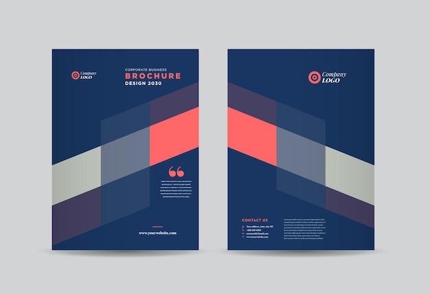 Design da capa do folheto de negócios ou relatório anual e capa do perfil da empresa ou livreto e capa do catálogo