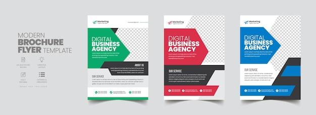 Design da capa do folheto do folheto de negócios corporativos