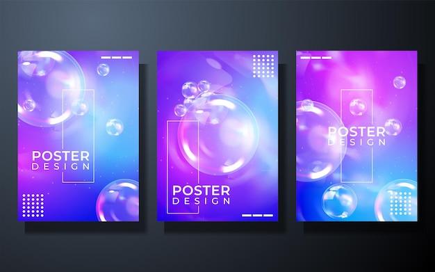 Design da capa do fundo abstrato da cor do gradiente