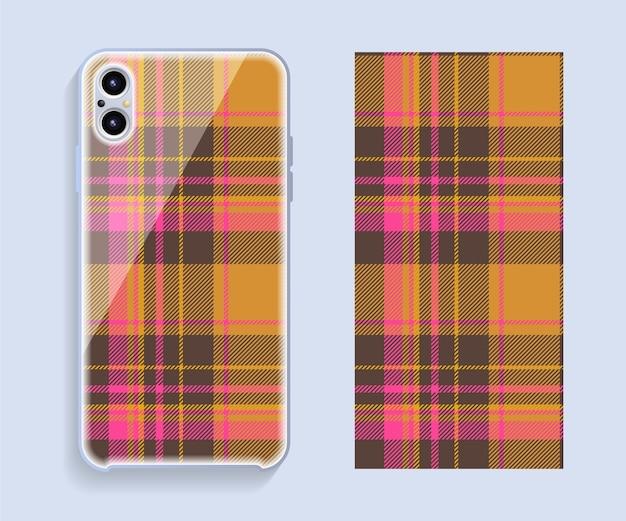 Design da capa do smartphone.