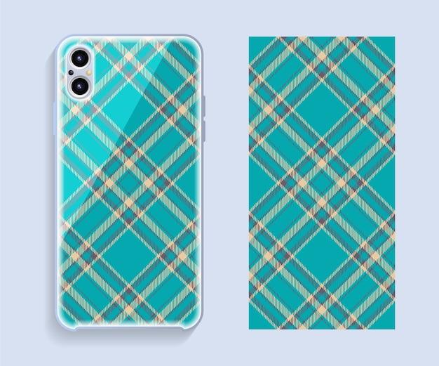 Design da capa do telefone móvel. capa de smartphone modelo