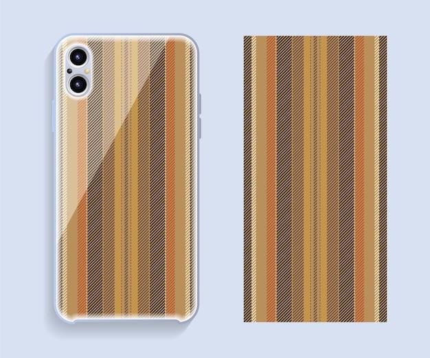 Design da capa do telefone móvel.