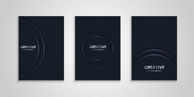 Design da capa em cinza escuro