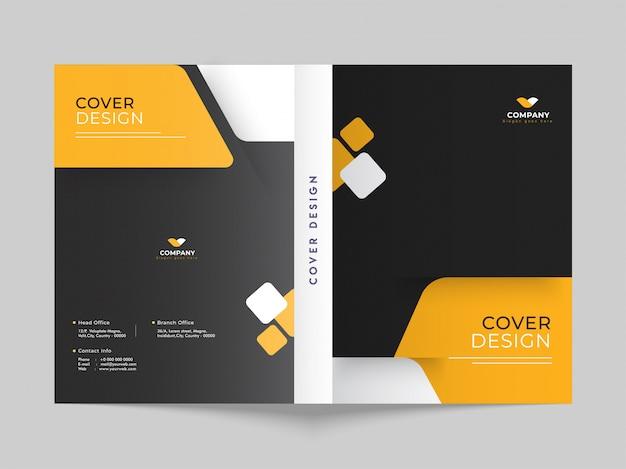 Design da capa ou layout do modelo de brochura para negócios ou corpora
