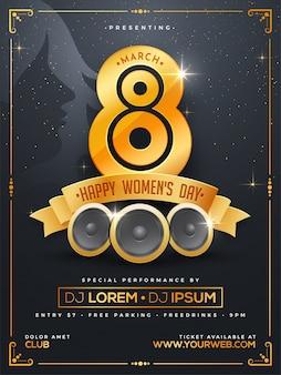 Design da celebração do dia das mulheres feliz.