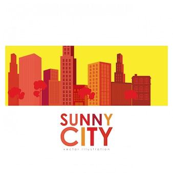 Design da cidade ensolarada