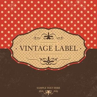 Design da etiqueta do vintage