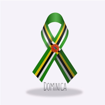 Design da fita da bandeira de dominica