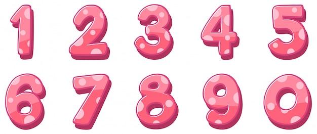 Design da fonte para números de um a zero