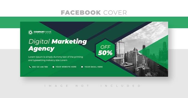 Design da foto da capa do facebook corporativo e empresarial ou design do banner da web