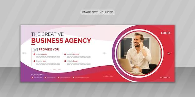 Design da foto da capa do facebook da agência de negócios criativos com formato criativo ou design de banner da web