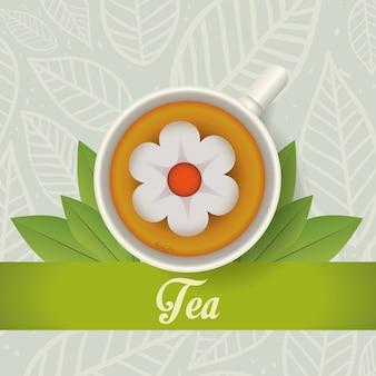Design da hora do chá