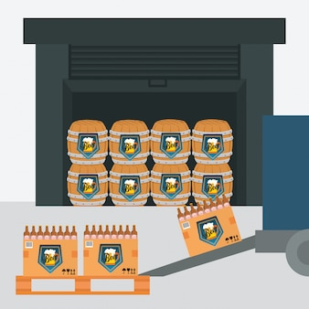 Design da indústria de cerveja