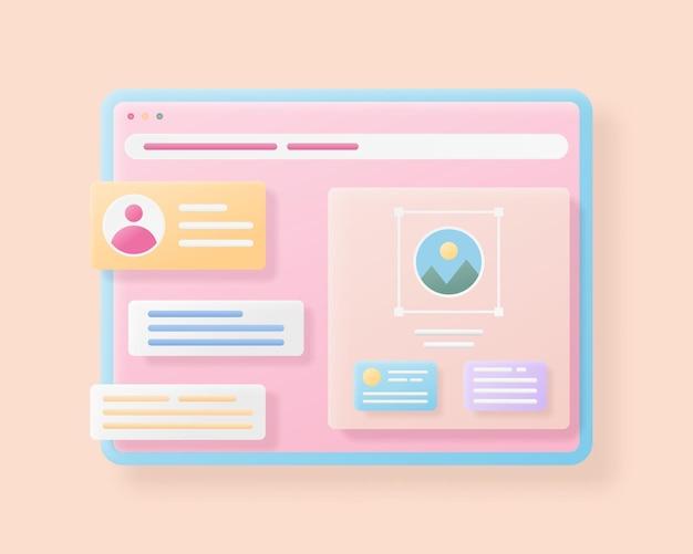 Design da interface da página da web