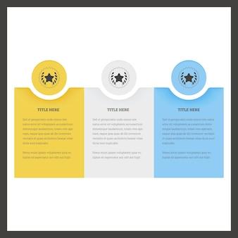Design da interface do usuário de colunas.
