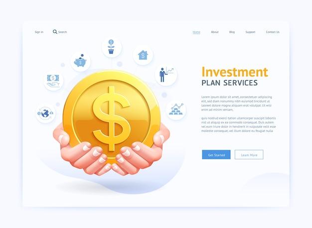 Design da interface do usuário do site da página digital comercial