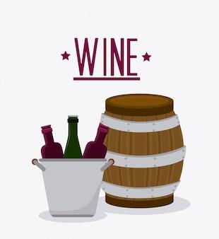Design da loja de vinhos.