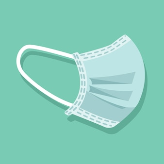 Design da máscara de proteção contra vírus