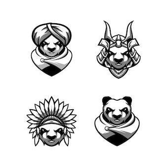 Design da mascote da panda