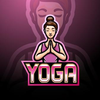 Design da mascote do logotipo do esporte e ioga